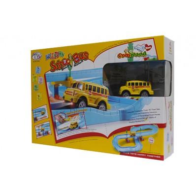 Aole Town School Bus Smart Sensors Track Set 22872