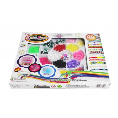 Loom Band Kit - 3000 Loom Bands Gift Set
