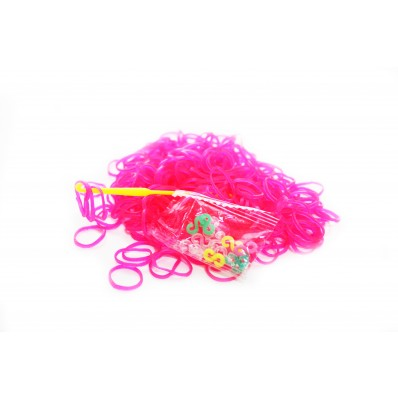 Loom Band Bracelets Refill Pack - Hot Pink 600 Bands