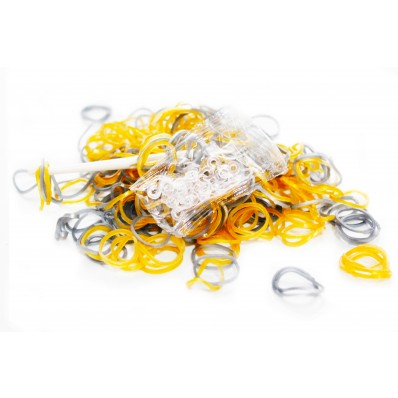 Loom Band Bracelets Refill Pack - Metallic Gold & Silver 600