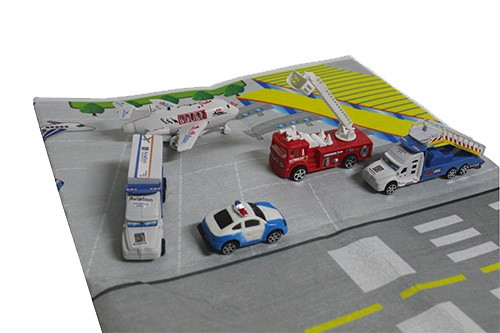 Airport Playset With Mat Giant Car Road Play Mat Toy