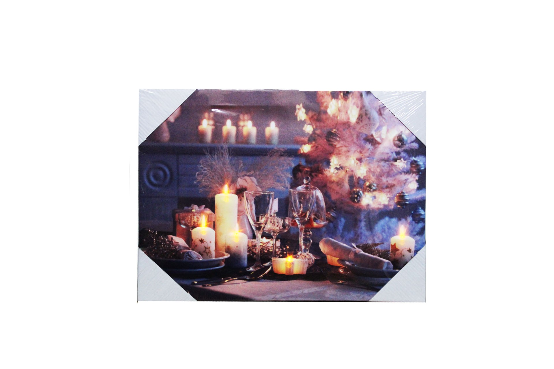 candle canvas with led light. Black Bedroom Furniture Sets. Home Design Ideas