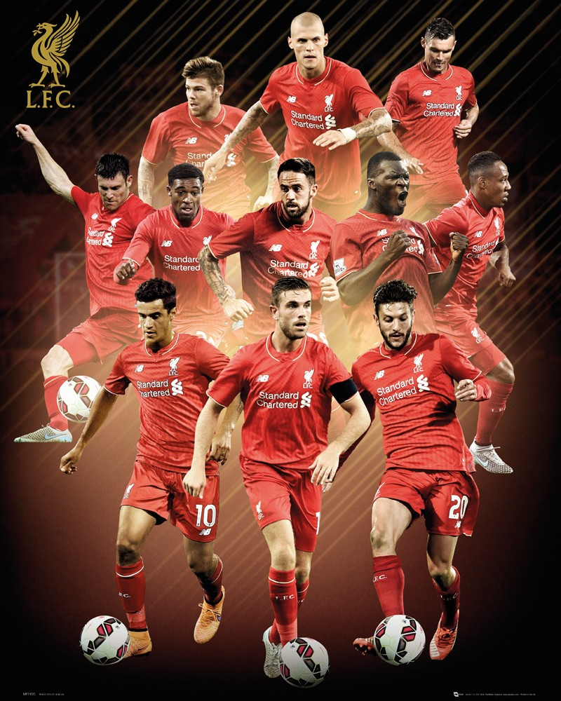 Official Liverpool 2015 2016 Football Club Players Picture