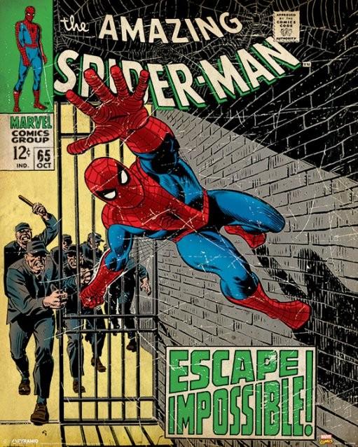 Marvel Comic Spiderman Escape Impossible Picture Frame