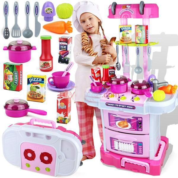 Little chef small gourmet 3in1 kitchen play toy set for Small toy kitchen set