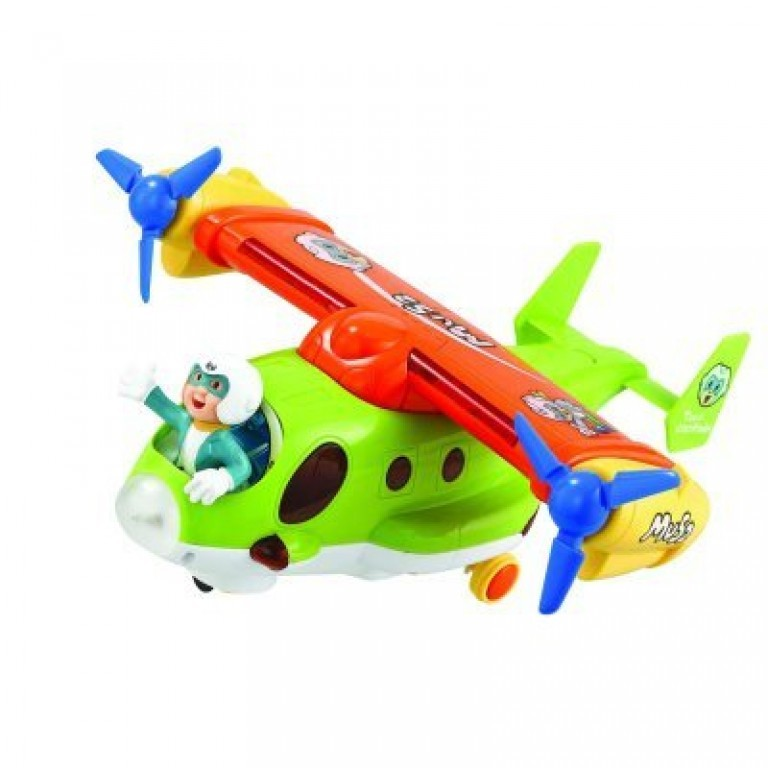 Battery Operated Cartoon Jet With Lights And Sound