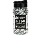 Bulldog Ultra Mix 0.20G White/Black High Grade 2000 BB Pellets