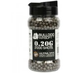 Bulldog Ultra Mix 0.20G Gray/Brown High Grade 2000 BB Pellets