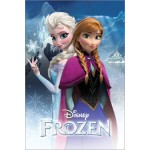 Frozen Anna And Elsa Mini Poster On Wooden Board