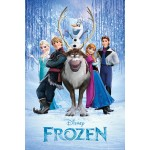Frozen Teaser Mini Poster On Wooden Board