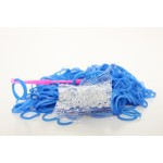 Loom Band Bracelets Refill Pack - Plain Blue 600