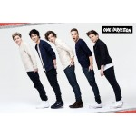 One Direction Line Poster On Wooden Board