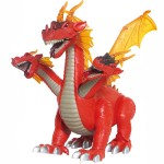 Electronic Dragon Dinasour Robot Removable Heads With Sound & Flashing Lights