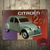 Citreon 2CV Vintage Metal Plate