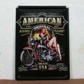 USA MOTORCYCLE TIN METAL PLATE