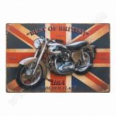 Best of British Vintage Metal Plate