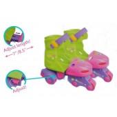 4 Wheel Roller Skates Durable Skates for Kids Skate Set