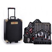 356pcs Tool box case with Ratchet Black Gold