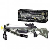 """Deluxe Action Military Crossbow Set with Scope 30"""""""