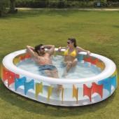 Jilong Oval Rainbow Pool - 250 x 208cm