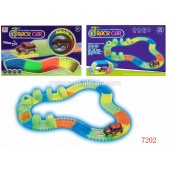 Kids 128 Pieces Glow In The Dark NOCTILUCENT TRACK CAR - 7202