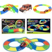 Kids 128 Pieces Glow In The Dark NOCTILUCENT TRACK CAR - 7203