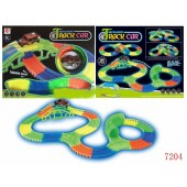 Kids 150 Pieces Glow In The Dark NOCTILUCENT TRACK CAR - 7204