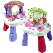 2 In 1 Kitchen And Dresser Kids Play Set Toy