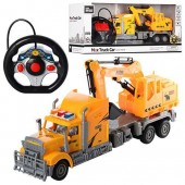 Remote Radio Control Digger Truck Toy Vehicle Carrier Set
