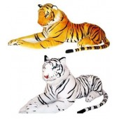 Giant 90cm Long Stuffed Tiger And Panther