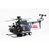Battery Operated Black Hawk Battle Bump And go Helicopter Toy