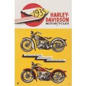 Harley Davidson Vintage Metal Plate