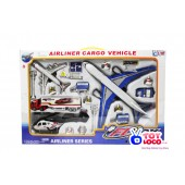 Airliner Cargo Vehicle 18 Piece Airport Diecast Play Toy Set