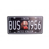 LONDON BUS 1956 Wall Decoration Vintage Metal Plate