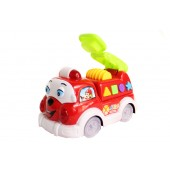 Battery Operated Cartoon Fire Engine (Bump-N-Go)
