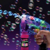Battery Operated Light Up LED Light Bubble Guns