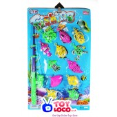 Hot Funny Fishing Game Toy 1 Rod 12 Fish Kids Children Bath Time Fun