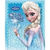 Frozen Elsa Mini Poster On Wooden Board