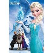 Frozen Mountain Mini Poster On Wooden Board
