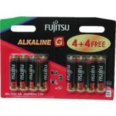 Fujitsy Alkaline LR06 1.5V AA 8pcs Battery