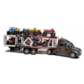 Friction Power Double Decker Transporter Lorry Includes 12 Quad Bikes
