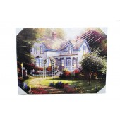 Beautiful Large House Canvas With LED Light