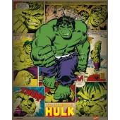 Marvel Comic Hulk Poster On Wooden Board