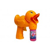 Duck Shape Friction Powered Light Up Bubble Gun - No Batteries Needed