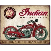 Indian Motorcycle Vintage Metal Plate