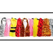 Children's Faux Fur Jacket Fleece Zip Up Animal Style Sleeveless Hooded Body Warmer