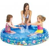 Round Inflatable Children's Pool With 3 Rings.