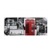 London Collage Canvas