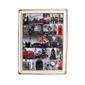 London Collage Wall Decoration Vintage Metal
