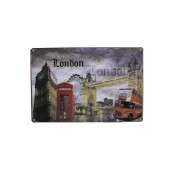 London Attraction Vintage Metal Plate